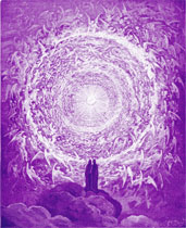 Purple angels of Archangel Uriel