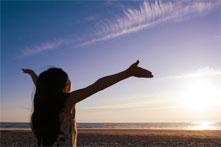 girl giving spiritual devotions