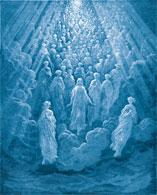 spiritual guides descending from heaven